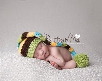 Crochet Baby Pattern Stocking Cap #2