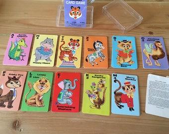 Vintage Whitman Animal Rummy hard case card game