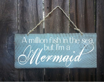 Mermaid sign, mermaid decor, Beach Sign, Beach House Decor, Surf Decor, Surf Shack, Mermaid, Ocean, /188
