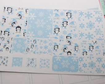 Planner Stickers 16 Christmas Stickers Winter Stickers Planner Stickers Fits Erin Condren Planners