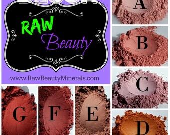 Natural Makeup - Mineral Powder Blush - Matte Mineral Blush - Natural Blush - Loose Blush Powder by RAW Beauty LLC