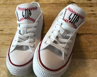 Baseball Shoes / Softball Shoes / Custom Converse / Monogram Converse