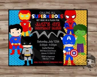 personalized superhero birthday invitations Josemulinohouseco