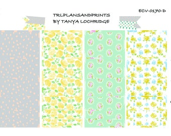 ECV-0170-D Stickers - Spring Softness!  Boho/Shabby Chic Washi - Erin Condren, Happy Planner, MAMBI, Filofax, Notebooks, Recollections