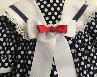 Vintage Jolene Polka Dot Sailor Dress