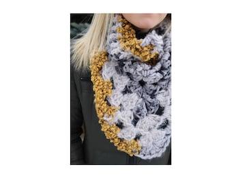 Concord Kerchief Cowl | Crochet Cowl Neck | Crochet Cowl | Crochet Scarf | Cowl Neck | Cowl | Scarf | Kerchief Cowl | Bandana