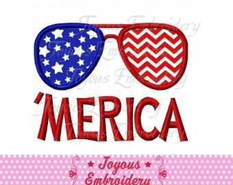 Instant Download Merica Flag Classes Applique Embroidery Design NO:2474