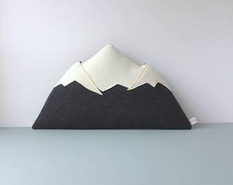Mount Rainier - wool mountain pillow - MADE TO ORDER