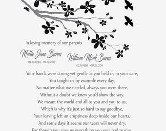 Loss of Daughter-Loss of Son-Memorial Poem-Sympathy Gift-Wife