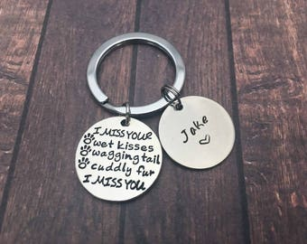 Pet Loss Gift Paw Print Keychain Remembrance Keyring Dog Keychain Pet Memorial Necklace Customized Keyring Custom Name Charm Christmas gifts