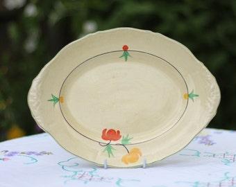 Hand painted serving platter
