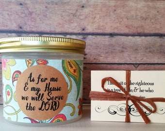 Blessings Jar, Christians gifts for women, Bible verses in a Jar, As for Me and My House We will Serve The Lord, Customizable gifts, Whimsy