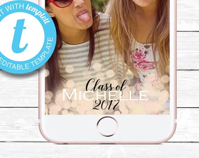 Graduation Snapchat, Graduation Geofilter, INSTANT DOWNLOAD, Graduation Snaphat Geofilter, Custom Snapchat Geofilter, Snapchat, YOU Edit