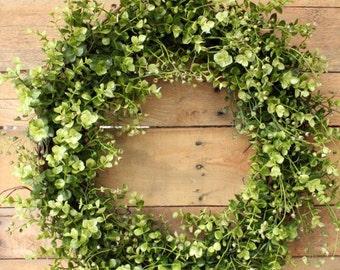 Boxwood Wreath ~ Spring Wreath ~ Modern Farmhouse ~ Artificial Boxwood Wreath ~ Year Round Wreath ~ Wedding Wreath ~ Door Decor