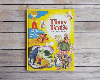 Children's Stories Tiny Tots Picture Book Classic Bedtime Stories Kids Fairy Tales Baby Shower Gift Short Tales For Children 60s Hardcover