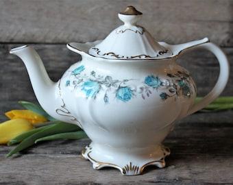 Vintage Sadler Teapot, Elegant Teapot,  Floral Teapot, Victorian Style Teapot, Collectible Teapot, China Teapot, Shabby Chic, Cottage Teapot