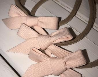 Baby Pink Nylon headband