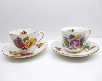 Vintage Queen Anne Teacups