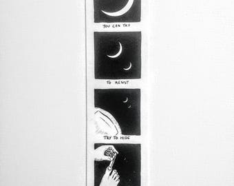 Moonclips: 50mm x 205mm bookmark