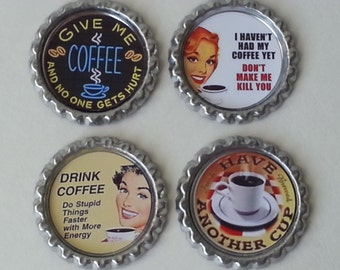 Retractable Badge Holder - Coffee Drinker - Funny - Choose Your Favorite One (See Pics)! Choice of Clip - Flat Rate Shipping in the US!