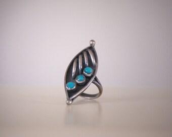Vintage Zuni Turquoise Ring