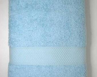 Shower 70x130cm towel cotton Terry color sky blue