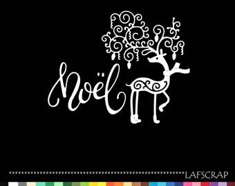 scrapbooking cuts animal Word cutout paper decoration die cut embellishment Christmas Reindeer