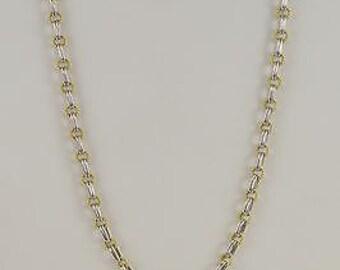 18k Bentio Sinigaglia Two Toned Belcher Style Heavy Chain/Necklace 35.25'' 49.2