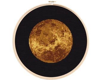 Venus Cross Stitch Pattern - Planet Cross Stitch - Solar System Cross Stitch Pattern - Cross Stitch Venus - Space Cross Stitch Pattern