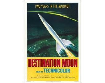 Destination Moon Movie Poster Print - 1950 - Sci-Fi - One (1) Sheet Artwork Reproduction