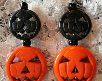 Pumkin / Jack-o'-lantern Halloween Earrings