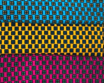 Wax - 50 cm x 118cm - 100% cotton African fabric coupon