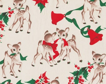 FREE SCAN - Vintage BenMont Reindeer Gift Wrap - circa 1950s - Why pay Heartland Mix when you can get the scan for FREE?