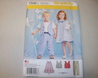 New Simplicity Childs'  Clothing Pattern 1206 (Free US Shipping)