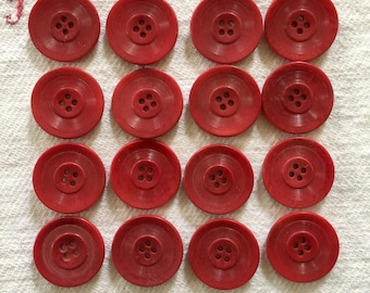 "1"" 1950's Tagua Nut French Vintage Buttons, Corozo Nut, Vegetable  Ivory"