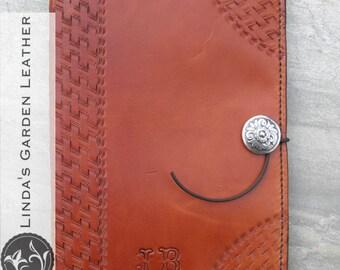 Handmade Leather Basketweave Mini Legal Pad Cover
