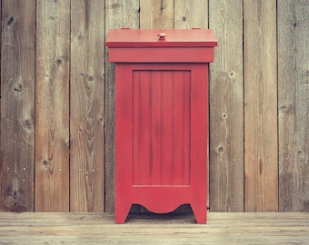 Large Farmhouse Wooden Trash Bin Can / Recycling Bin - 30 Gallon - Available with a Distressed or Solid Finish