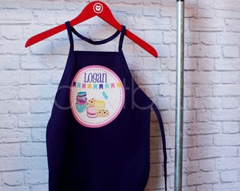 Personalized Cookie Party Apron - Personalized Baking Apron - Personalized Child's Birthday Apron - Smock - by Pocketbrand