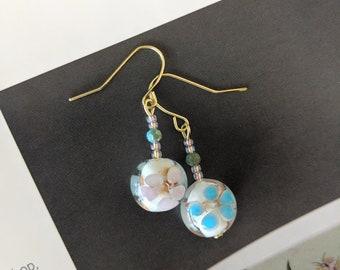 Cherry Blossom Vintage Beads Earrings