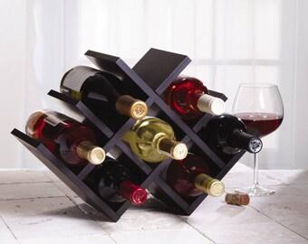Butterfly Wine Rack, 8 Bottles, Bamboo, Wood, Russet by Legion Woodcraft