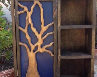 Cabinet, Wall Mount Apothecary Storage, Shelf Bathroom, Reclaimed Wood Cabinet, Bath Decor Rustic, Kitchen Spice Rack, Essential Oil Shelf