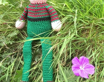 Crochet Kit, Ethelred the Unready Elf.