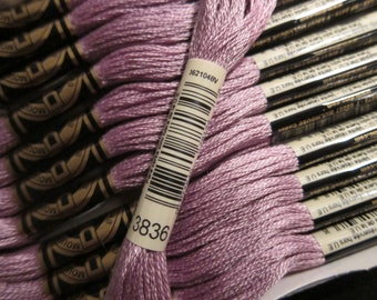 Light Grape #3836, DMC Cotton Embroidery Floss - 8m Skeins - Available in Single Skeins, Larger Pkgs & Full (12 skein) Boxes
