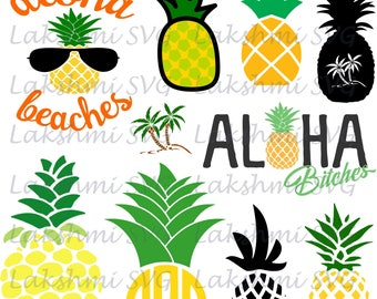 Pineapple svg,pineapple SVG Cricut,Pineapple SVG,Aloha SVG, Cricut Cut Files, Silhouette  Files,aloha png,beaches svg