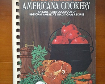 Vintage Americana Cookbook, Illustrated Cookbook, Traditional American Recipes, Recipe Book, American Recipes