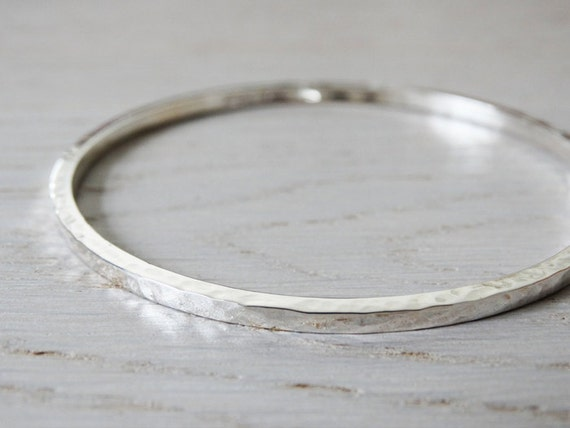 tinysilver etsy on sterling pin hammered solid by bangle silver bangles