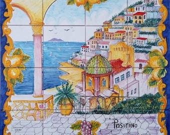 Hand Painted Tile Mosaic Ravello Italy Garden Decor