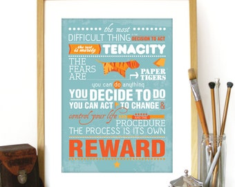 Amelia Earhart Quote Poster Print Typography Inspirational Motivational Quote Amelia Earhart Poster inspirational poster motivational art