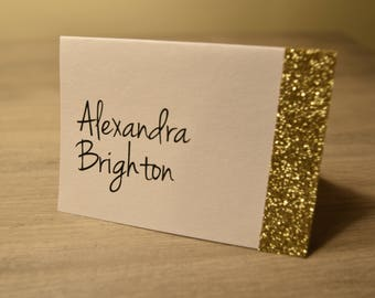 Wedding Place Cards, Wedding Place Cards, Gold Glitter Place Cards, Silver Glitter Place Cards, Glitter Place Cards Place cards