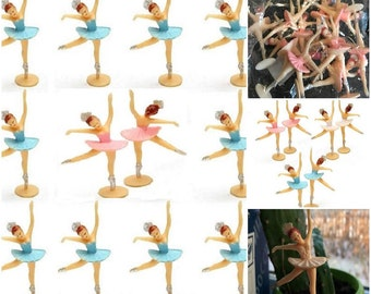 12 Ballerina Princess Cupcake Toppers Birthday Cake Topper Party Favors Figurine ORNAMENTS for Music Box DANCING Ballerinas Doll Ballet Tutu